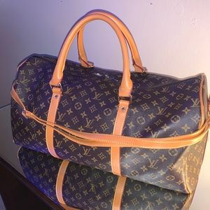 Mock Louis Vuitton Softsided Duffle Bag